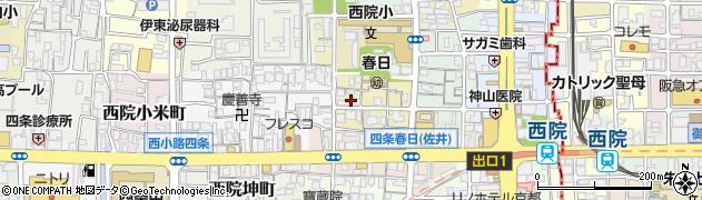 京都府京都市右京区西院春日町周辺の地図
