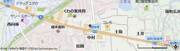 京都府亀岡市篠町浄法寺(中村)周辺の地図