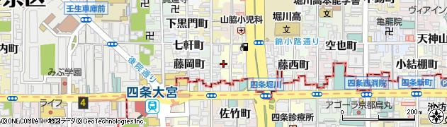 京都府京都市中京区松浦町周辺の地図
