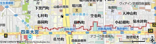京都府京都市中京区藤西町周辺の地図