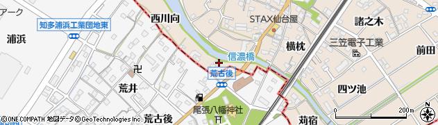 愛知県東海市養父町(東川向)周辺の地図