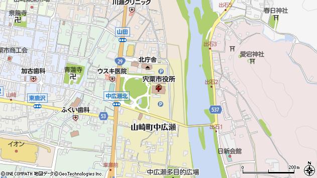 〒671-2500 兵庫県宍粟市(以下に掲載がない場合)の地図