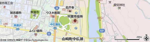 兵庫県宍粟市周辺の地図