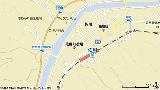 〒679-5300 兵庫県佐用郡佐用町(以下に掲載がない場合)の地図