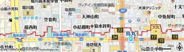 京都府京都市中京区観音堂町周辺の地図