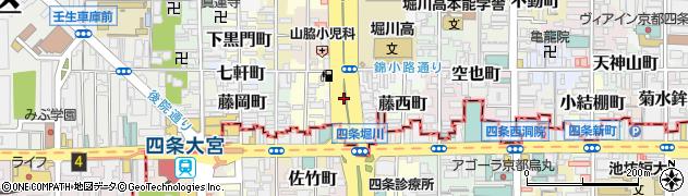 京都府京都市中京区錦堀川町周辺の地図
