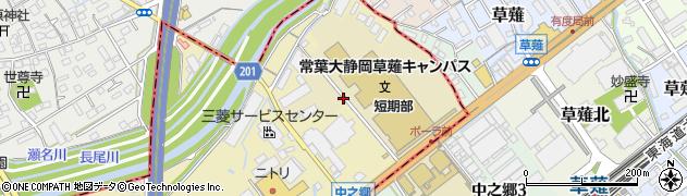 静岡県静岡市駿河区弥生町周辺の地図