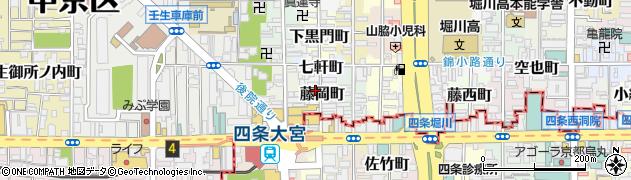 京都府京都市中京区藤岡町周辺の地図