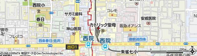 京都府京都市中京区壬生淵田町周辺の地図