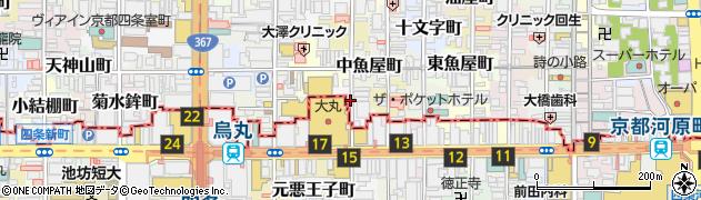 京都府京都市中京区帯屋町周辺の地図