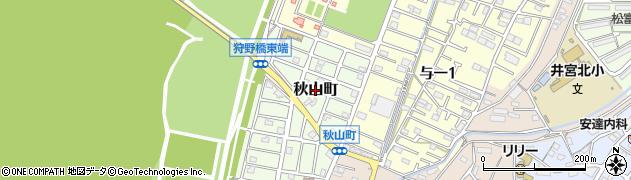 静岡県静岡市葵区秋山町周辺の地図