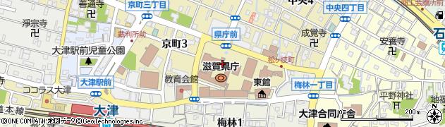滋賀県周辺の地図