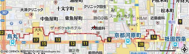京都府京都市中京区大日町周辺の地図