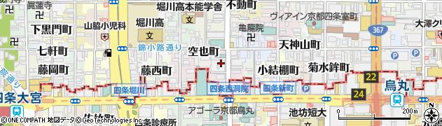 京都府京都市中京区蟷螂山町周辺の地図