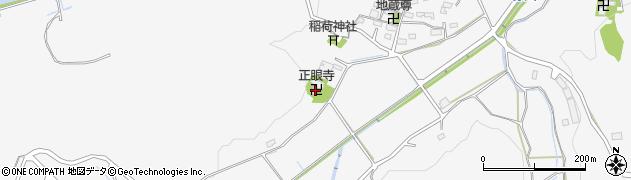 正眼寺周辺の地図