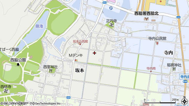 〒677-0026 兵庫県西脇市坂本の地図