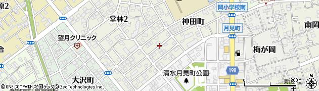 静岡県静岡市清水区神田町周辺の地図
