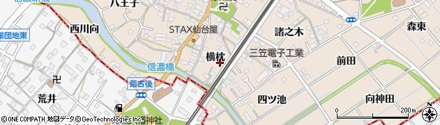 愛知県東海市養父町(横枕)周辺の地図