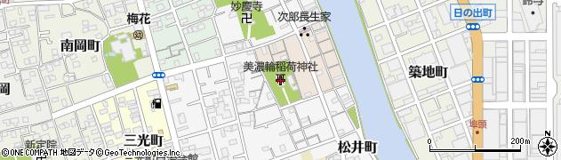 美濃輪稲荷神社周辺の地図