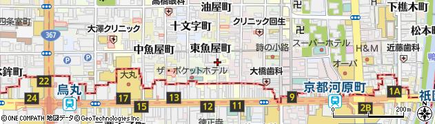 京都府京都市中京区西大文字町周辺の地図