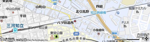 愛知県知立市山町(南引馬野)周辺の地図