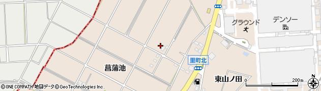 愛知県安城市里町(西山ノ田)周辺の地図