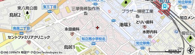 愛知県知立市宝町(鴨摺)周辺の地図