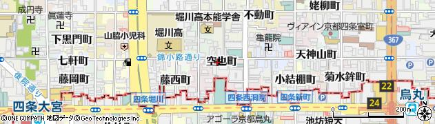 京都府京都市中京区空也町周辺の地図