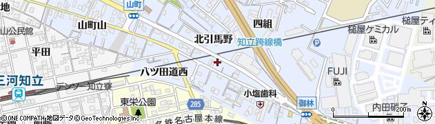 愛知県知立市山町(北引馬野)周辺の地図