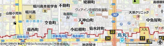 京都府京都市中京区天神山町周辺の地図