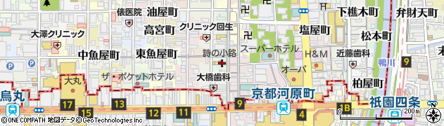 京都府京都市中京区東大文字町周辺の地図