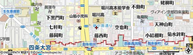 京都府京都市中京区三文字町周辺の地図
