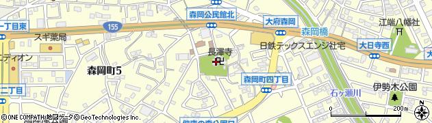 長沢寺周辺の地図