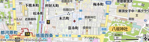 京都府京都市東山区清本町周辺の地図
