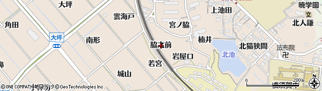 愛知県東海市高横須賀町(脇之前)周辺の地図