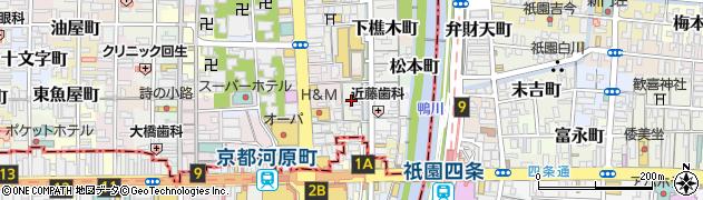 京都府京都市中京区紙屋町周辺の地図