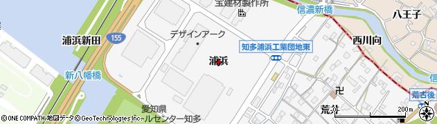 愛知県知多市八幡(浦浜)周辺の地図