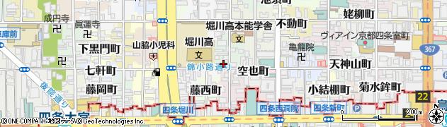 京都府京都市中京区山田町周辺の地図