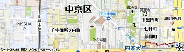 京都府京都市中京区壬生坊城町周辺の地図