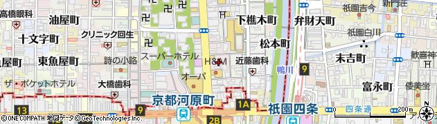京都府京都市中京区下大阪町周辺の地図