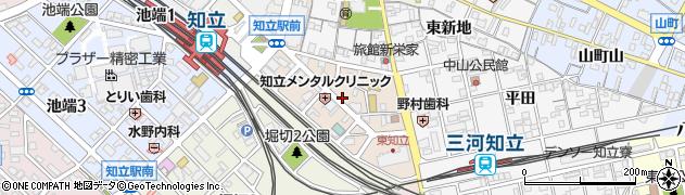 愛知県知立市新富周辺の地図