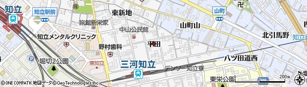 愛知県知立市内幸町周辺の地図