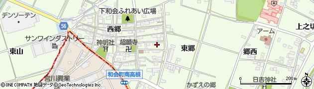 愛知県豊田市和会町(東郷)周辺の地図