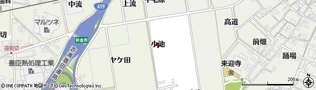 愛知県知立市牛田町(小池)周辺の地図