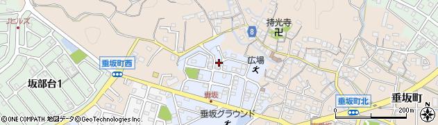 三重県四日市市南垂坂町周辺の地図