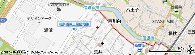 愛知県知多市八幡(荒井)周辺の地図