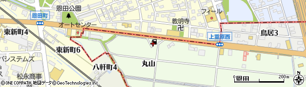 愛知県知立市上重原町(丸山)周辺の地図