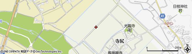 滋賀県日野町(蒲生郡)寺尻周辺の地図