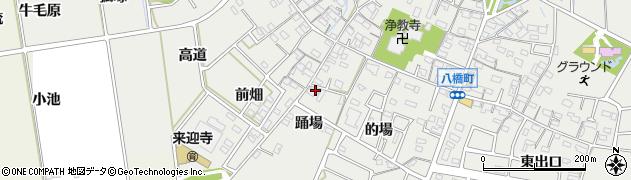 愛知県知立市八橋町(踊場)周辺の地図
