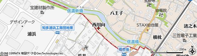 愛知県東海市養父町(西川向)周辺の地図